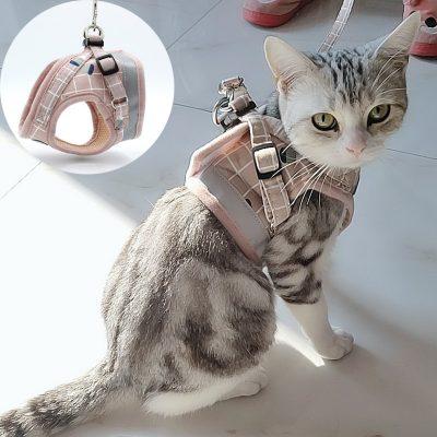 Heavy Duty Cute Cat or Kitten Harness 15+ Colours  1