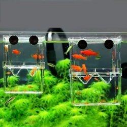 8*7*11cm Double-Deck Clear Fish Breeding Isolation Box Aquarium Breeder Fish Tank Hatching Incubator Fish House Home 1