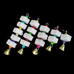 Stone Mineral for Parrot Pet Supplies Bird Cage Toy Grinding Stone Flower Shape Hang Style Parakeet Toy 1