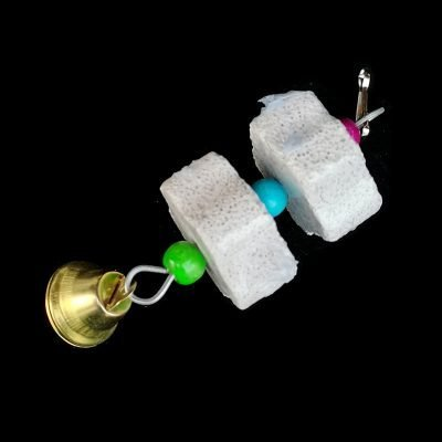 Stone Mineral for Parrot Pet Supplies Bird Cage Toy Grinding Stone Flower Shape Hang Style Parakeet Toy 3